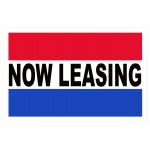 Now Leasing Patriotic 2' x 3' Vinyl Business Banner
