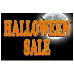 Halloween Sale Full Moon 2' x 3' Vinyl Business Banner