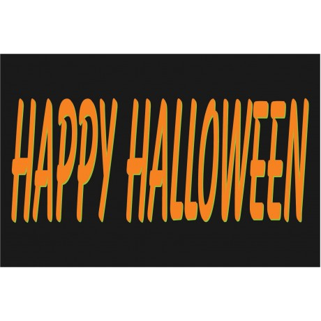 Happy Halloween 2' x 3' Vinyl Business Banner