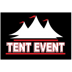 Tent Event 2' x 3' Vinyl Business Banner