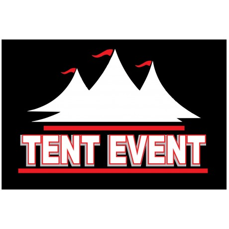 Tent Event 2' x 3' Vinyl Business Banner