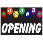 Grand Opening Balloons 2' x 3' Vinyl Business Banner