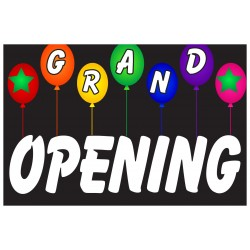 Grand Opening Balloons 2' x 3' Vinyl Business Banner