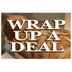 Wrap Up A Deal Halloween 2' x 3' Vinyl Business Banner