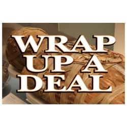 Wrap Up A Deal Halloween 2' x 3' Vinyl Business Banner
