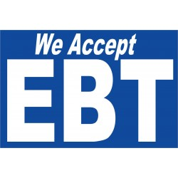 We Accept EBT 2' x 3' Vinyl Business Banner