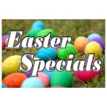 Easter Specials 2' x 3' Vinyl Business Banner