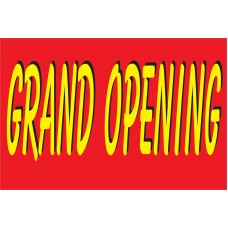 Grand Opening Red & Yellow 2' x 3' Vinyl Business Banner