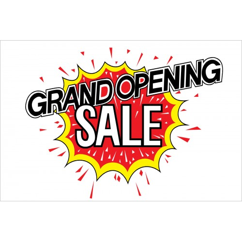 Grand Opening Sale Explosion 2 X 3 Vinyl Business Banner