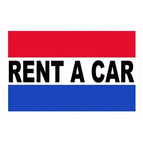 Rent A Car 2' x 3' Vinyl Business Banner