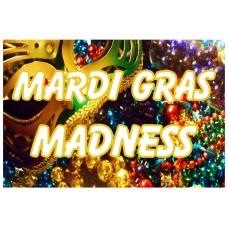 Mardi Gras Madness 2' x 3' Vinyl Business Banner