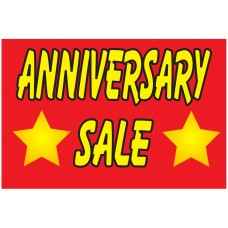 Anniversary Sale 2' x 3' Vinyl Business Banner