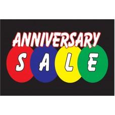 Anniversary Sale Black 2' x 3' Vinyl Business Banner