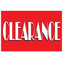 Clearance Sale Red 2' x 3' Vinyl Business Banner
