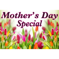 Mother's Day Specials Pink 2' x 3' Vinyl Business Banner
