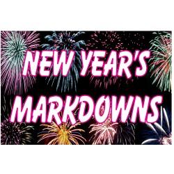New Year Markdowns 2' x 3' Vinyl Business Banner