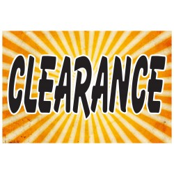 Clearance Yellow 2' x 3' Vinyl Business Banner