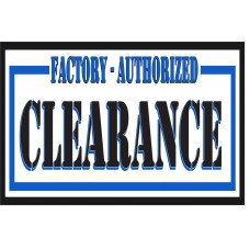 Factory Authorized Clearance 2' x 3' Vinyl Business Banner