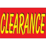 Clearance Red & Yellow 2' x 3' Vinyl Business Banner
