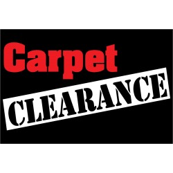 Carpet Clearance 2' x 3' Vinyl Business Banner