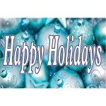 Happy Holidays Ornaments 2' x 3' Vinyl Business Banner