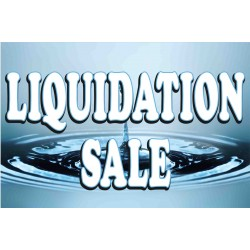 Liquidation Sale Blue 2' x 3' Vinyl Business Banner