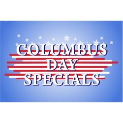Columbus Day Specials 2' x 3' Vinyl Business Banner