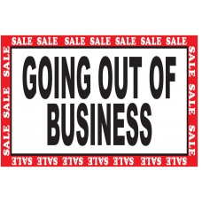 Green Going Out Of Business Sale 2' x 3' Vinyl Business Banner