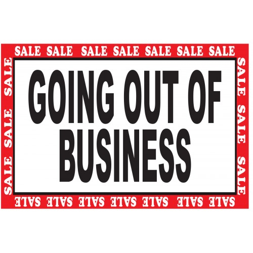 Green Going Out Of Business Sale 2' x 3' Vinyl Business Banner ...