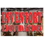 Inventory Liquidation 2' x 3' Vinyl Business Banner