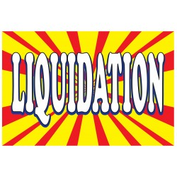 Liquidation Burst 2' x 3' Vinyl Business Banner