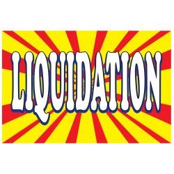 Liquidation Burst 2' x 3' Vinyl Business Banner