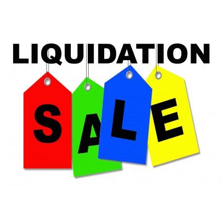 Liquidation Sale 2' x 3' Vinyl Business Banner