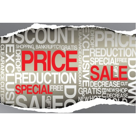 Price Reduction Sale 2' x 3' Vinyl Business Banner