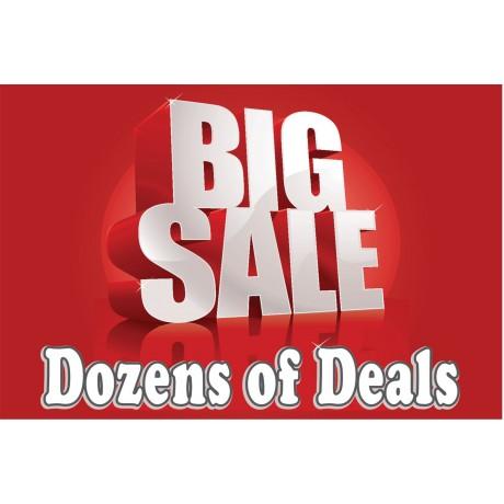 Big Sale Dozens Of Deals 2' x 3' Vinyl Business Banner