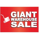 Giant Sale 2' x 3' Vinyl Business Banner