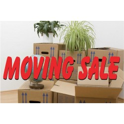 Moving Sale 2' x 3' Vinyl Business Banner