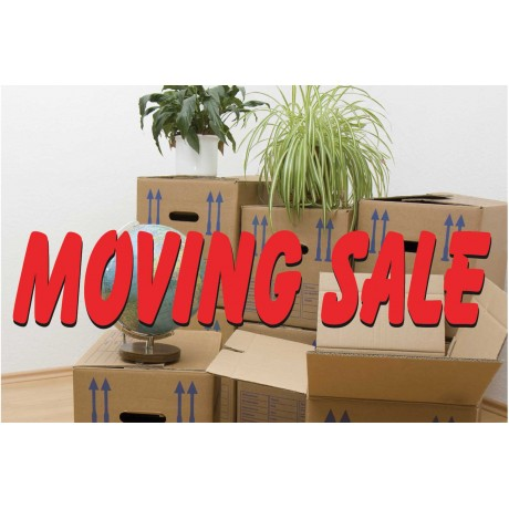 Moving Sale 2' x 3' Vinyl Business Banner