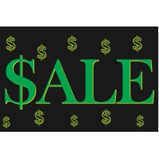 Sale Dollar Signs 2' x 3' Vinyl Business Banner