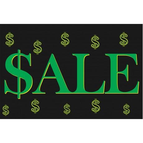 Sale Dollar Signs 2' x 3' Vinyl Business Banner