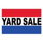 Yard Sale 2' x 3' Vinyl Business Banner