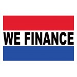 We Finance 2' x 3' Vinyl Business Banner