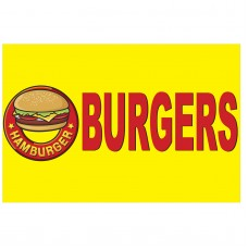 Burgers 2' x 3' Vinyl Business Banner