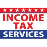 Income Tax Services 2' x 3' Vinyl Business Banner