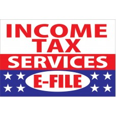 Income Tax Services E-File 2' x 3' Vinyl Business Banner