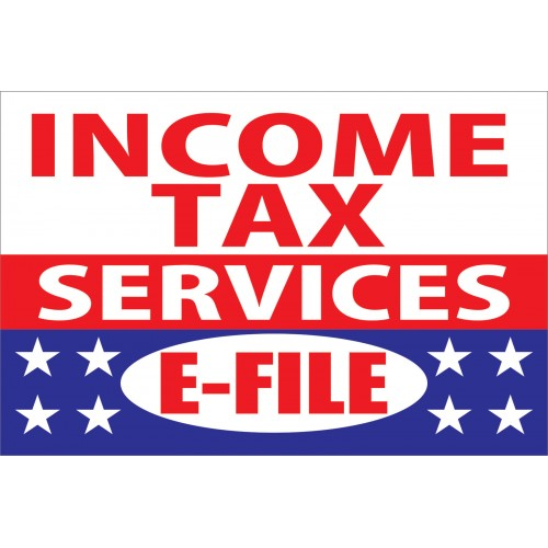 Income Tax Services EFile X Vinyl Business Banner BN - Vinyl business banners