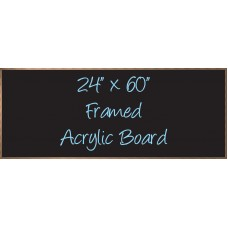 "24""x 60"" Wood Framed Acrylic Sign"