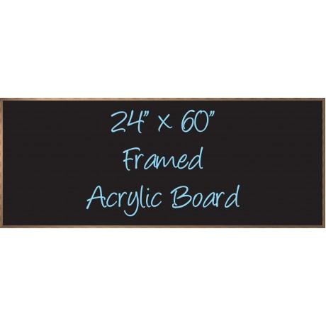 """24""""x 60"""" Wood Framed Acrylic Sign"""