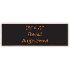 "24""x 72"" Wood Framed Acrylic Sign"