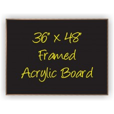 "36""x 48"" Wood Framed Acrylic Sign"